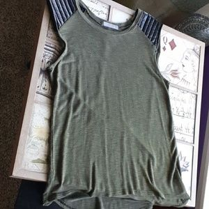 Nordstrom Olivia Moon Army Green Blouse